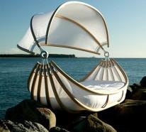 Designer Bett für die Innen- und Außeneinrichtung