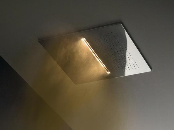 designer dusche fantini rubinetti regen licht farbe kopfbrause