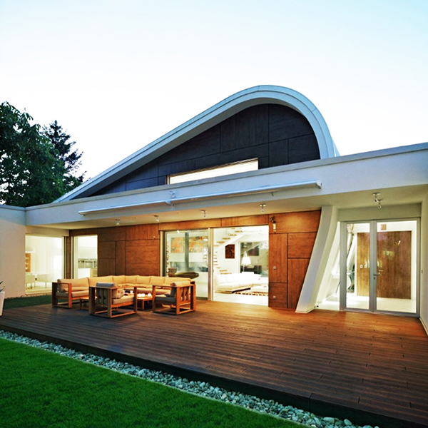futuristisches Loft Interieur LED Beleuchtung