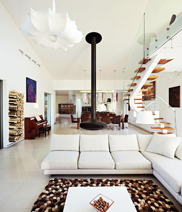 designer haus 04 projekt architektur kaminofen weiß sofa