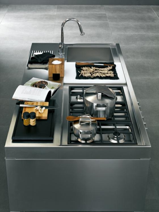 Kücheninsel Varianten ~ designer kücheninsel dezent und praktisch