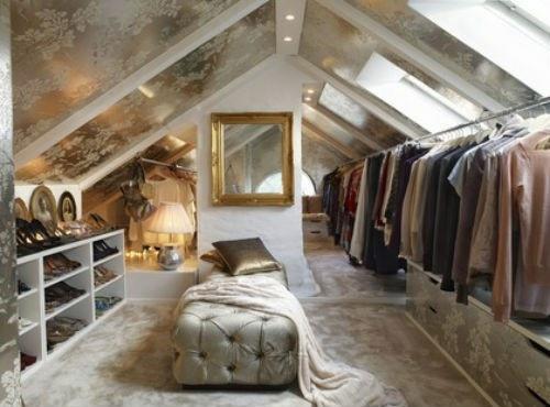 designer kleiderschrank ideen dachgeschoss luxus samt spiegel