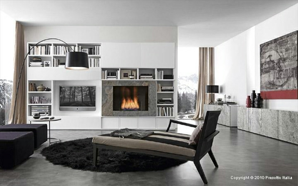 designer regale von presotto italia moderne wohnzimmer. Black Bedroom Furniture Sets. Home Design Ideas