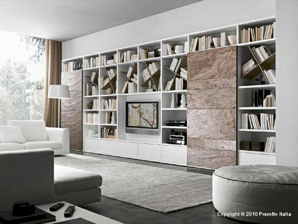 wohnzimmer modern grau braun ~ raum- und möbeldesign-inspiration - Wohnzimmer Regal Modern