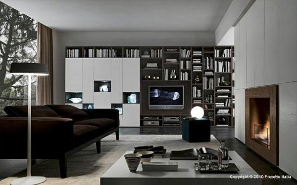 designer regale von presotto italia moderne wohnzimmer interiors. Black Bedroom Furniture Sets. Home Design Ideas