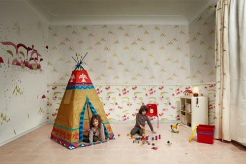 designer tapeten im kinderzimmer bunte abstrakte muster