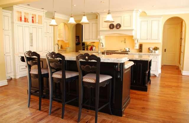 doppelte kücheninsel designs ideen originell schwarz
