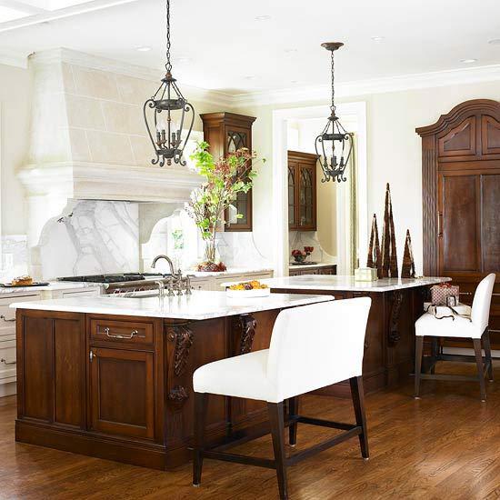 Doppelte Kücheninsel Designs - praktische Einrichtungslösungen