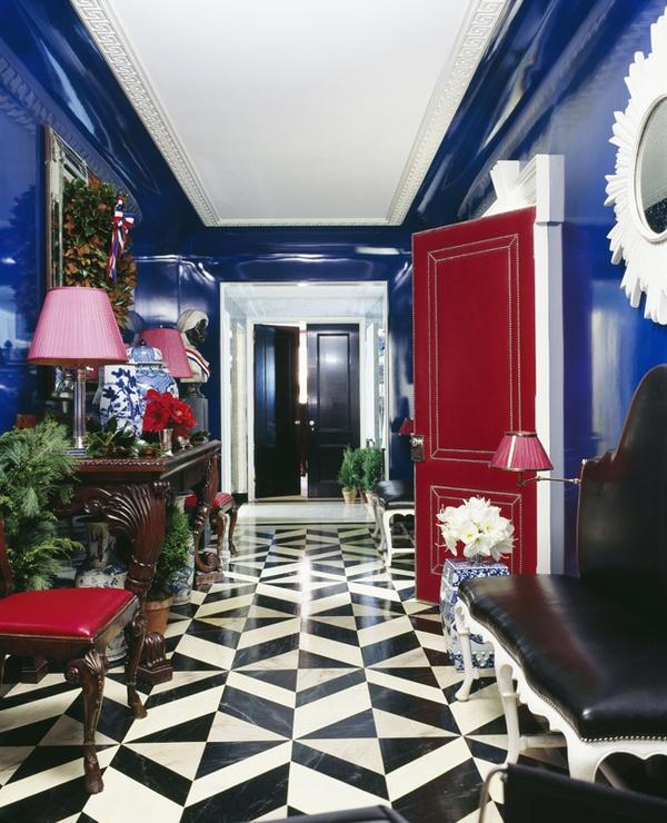 dreifarbige ausstattungen rot weiß blau flur klassisch glanzvoll