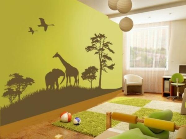 dschungel dekoration im kinderzimmer afrika stil