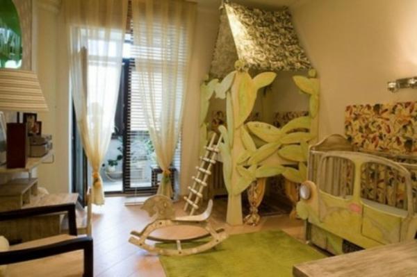 Kinderzimmer gestalten safari  Lustige Dschungel Dekoration im Kinderzimmer – 15 schöne Beispiele