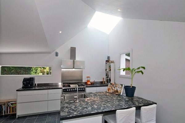 eckig zimmerdecke weiß küche arbeitsplatte
