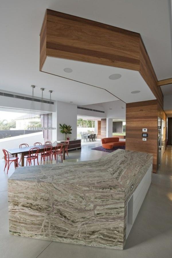 eckiges interieur design mck architects holz wandbelag