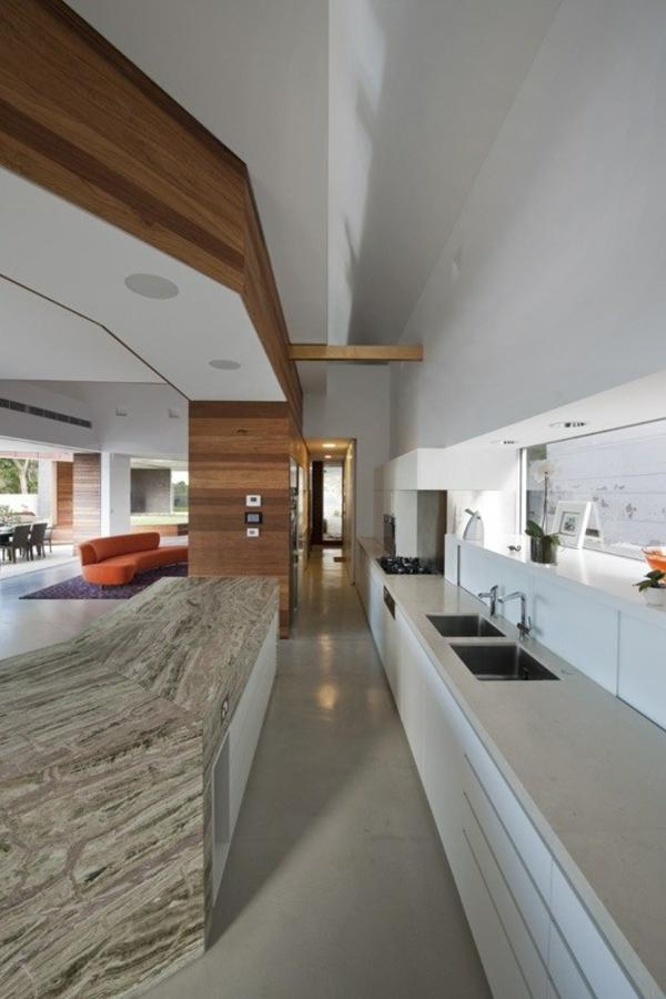 eckiges interieur design mck architects kücheninsel