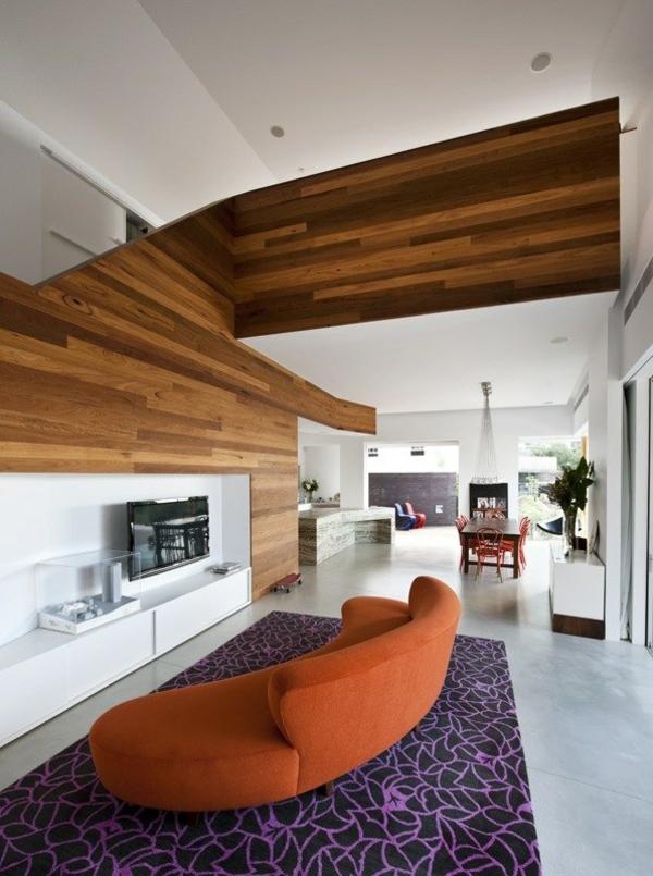 eckiges interieur design mck architects wohnbereich
