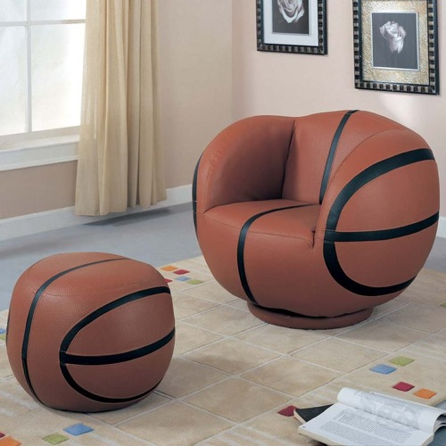 einzigartige polstersessel basketball brookstone hocker