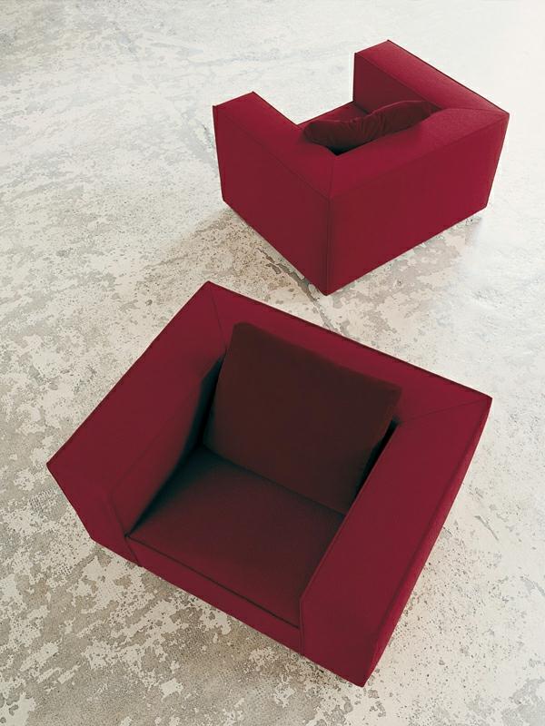 Inspirierendes interior design durchsichtige glasw nde for Sessel weinrot