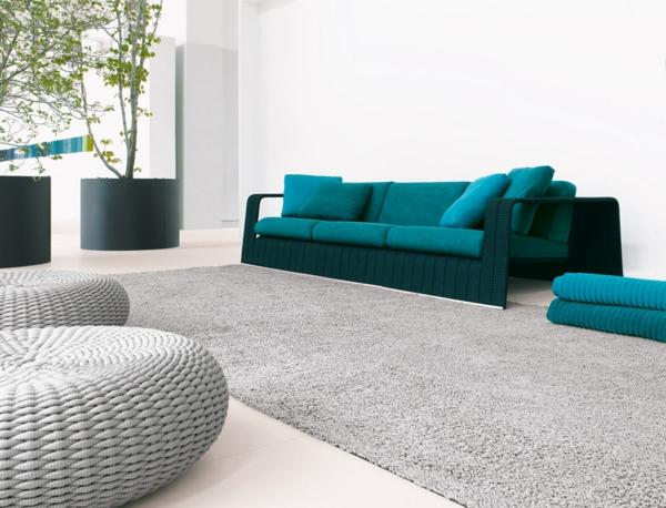 einrichtung originell paola lenti sofa türkis frisch