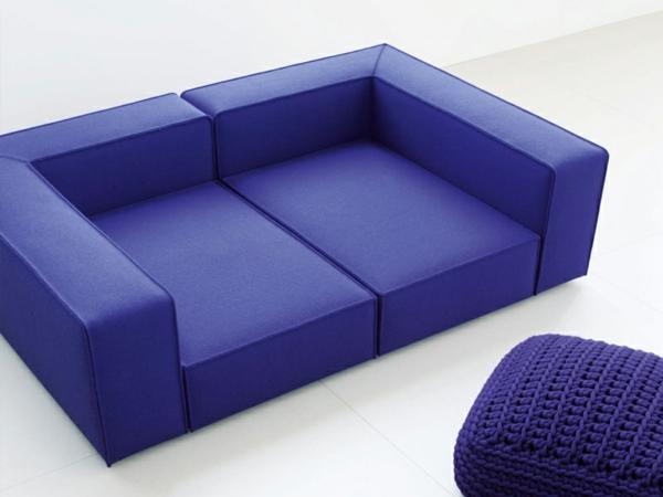 einrichtung originell paola lenti sofa violett hocker gestrickt