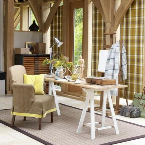 home office design im traditionellen und rustikalen stil