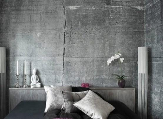 Graue Tapete Wohnzimmer - Design