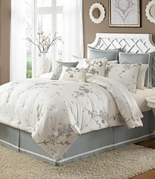 elegant helle farben schlafzimmer verzierung
