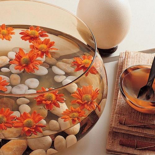 elegante Flintsteine Innen Außendekoration Vase Blumen