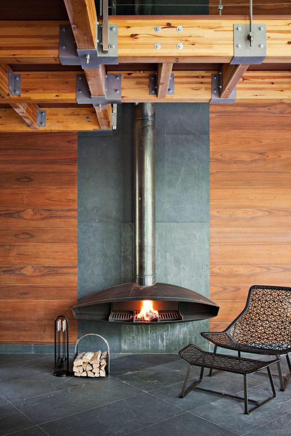 Modernes Haus-Design  persönlichkeit idee design kaminofen