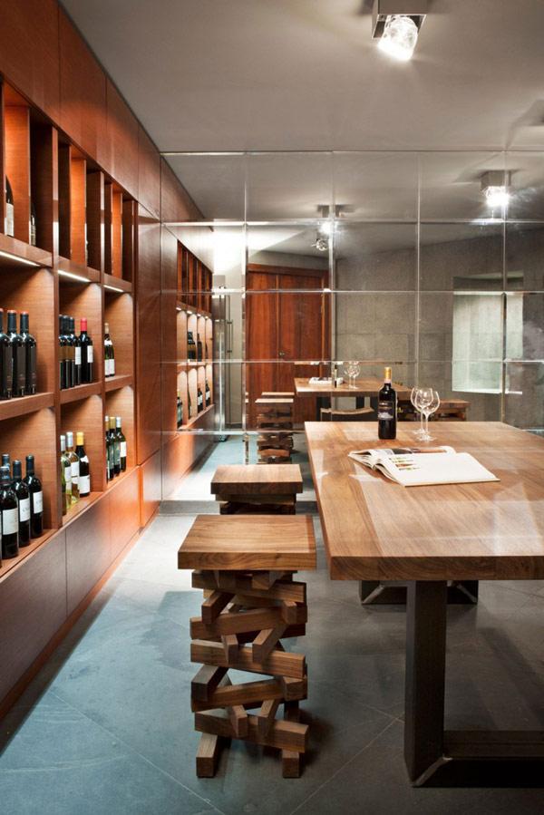 elegantModernes Haus-Design persönlichkeit idee weinkeller