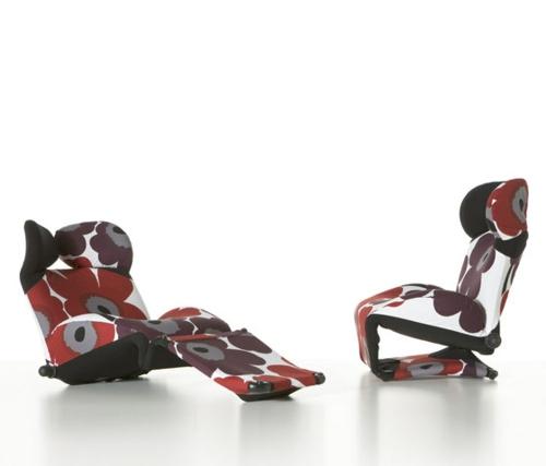 entspannung fauteuil modern 111 wink blumendruck cassina