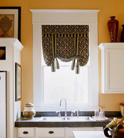 erneuerung der küche vorhang fenster weiß sonnenlicht