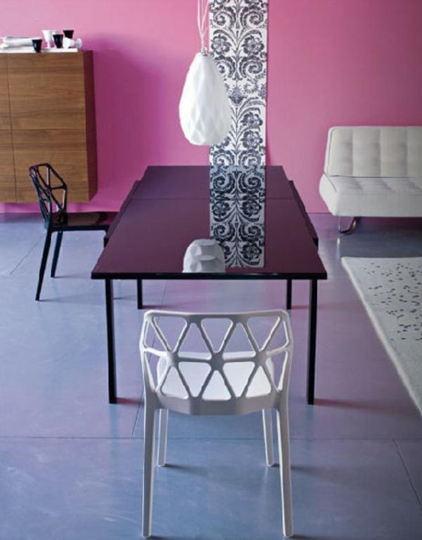 Modernes interieur design im wohnzimmer tolle ideen von calligaris - Wohnzimmer schwarz rosa ...