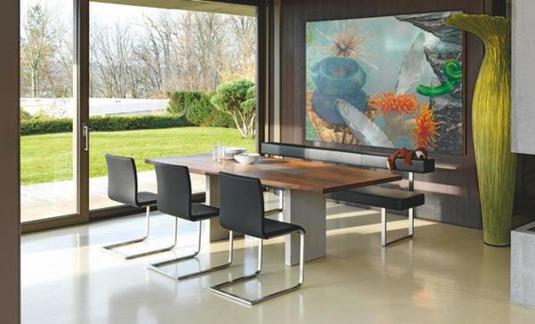 Esstische, Sitzbänke und Stühle  design glaswände