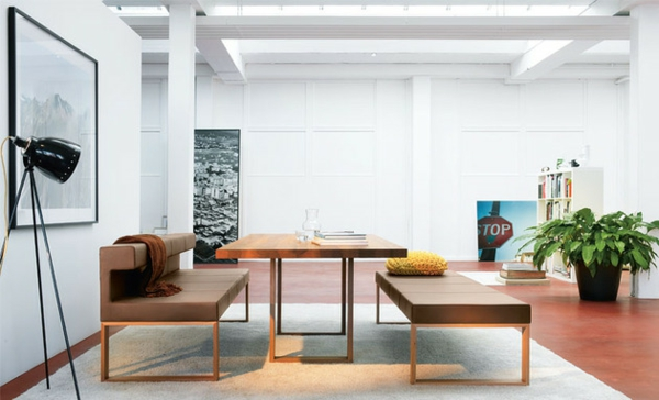 esstische sitzbänke und stühle design holz ausstattung