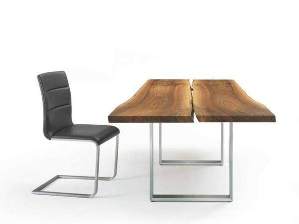 Esstische, Sitzbänke und Stühle  design holz lederstuhl