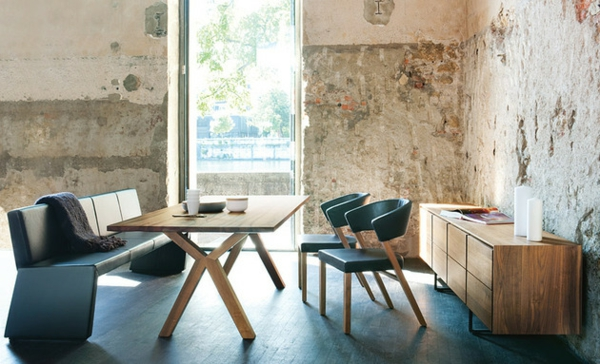 Esstische, Sitzbänke und Stühle  design industriell