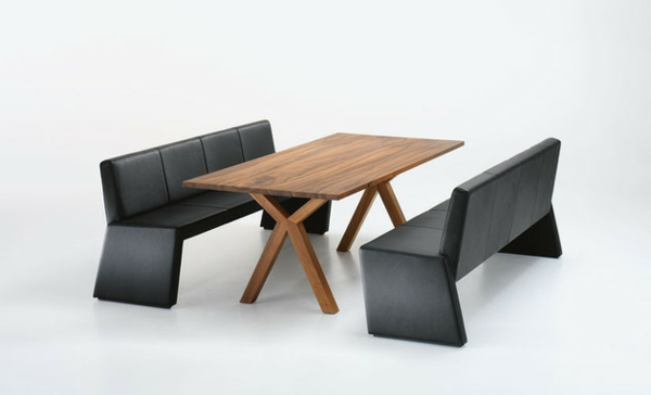 Esstische, Sitzbänke und Stühle design leder