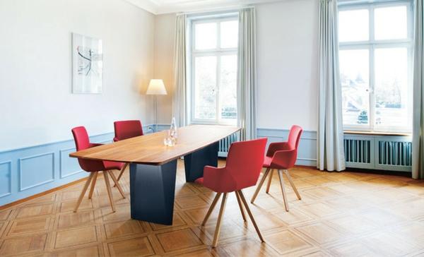 Esstische, Sitzbänke und Stühle  design rot esszimmer