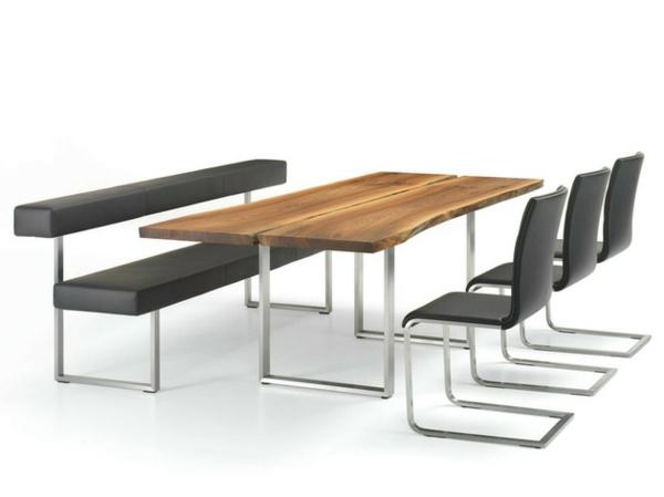 esstische sitzbänke und stühle design schwarz modell