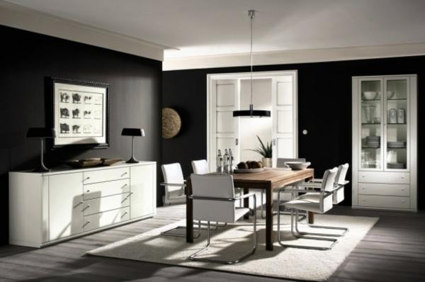 Esszimmer schwarz weiß  Erstaunlich gute Ideen für das Esszimmer Design von Hulsta