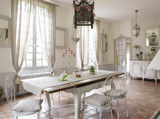 45 bezaubernde französische Esszimmer Designs