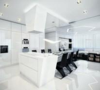 Stühle modern esszimmer schwarz  Inneneinrichtung in Schwarz Weiß – 20 Esszimmer Interieurs