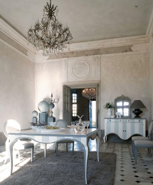 esszimmer möbeln streifen dekoration