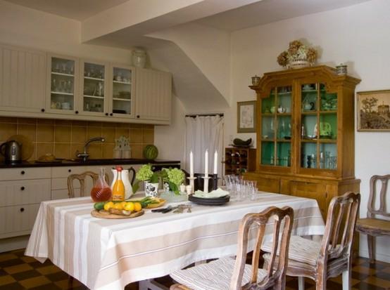 esszimmer tischdecke kerzen frankreich stil originell weiß farben