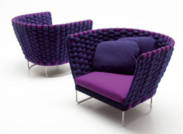 außen gestaltung  paula lenti lila lehnstühle auflage