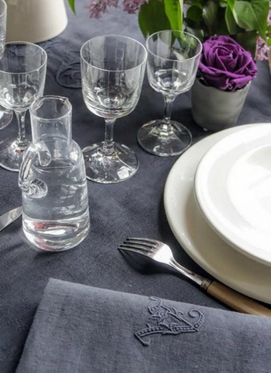extravagant tischdeko originell französisch stil esszimmer blumen