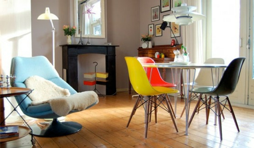 farbenfrohe esszimmer design ideen behaglich holz bodenbelag - Ideen Esszimmergestaltung
