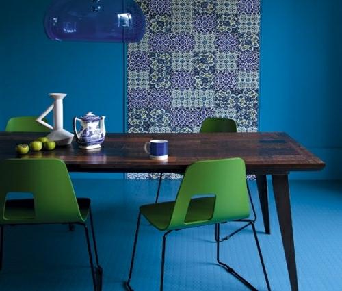 27 grelle und farbenfrohe Esszimmer Design Ideen