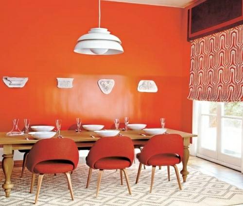 27 grelle und farbenfrohe esszimmer design ideen for Esszimmer orange
