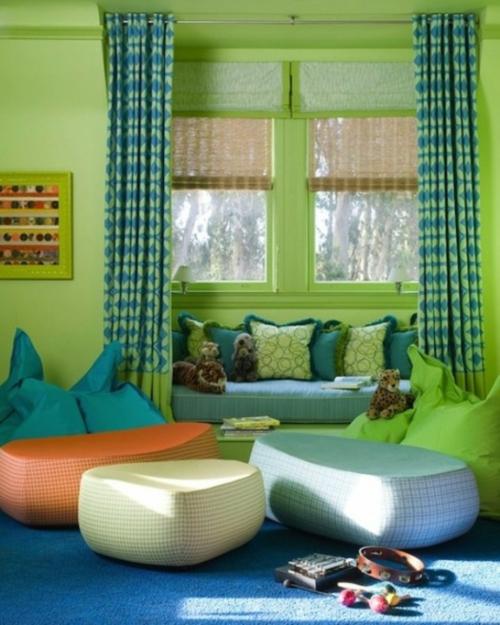 sitzecke kinder raum grüne wände